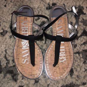 Sam & Libby t strap sandals black